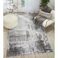 "Kathy Ireland Vintage Abstract Grey Area Rug by Nourison - 5'3"" x 7'5"""