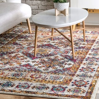 nuLoom Transitional Modern Tribal Multicolor Faded Area Rug - 8' x 10'