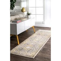 nuLOOM Gold Traditional Honeycomb Area Rug - 2' 8 x 8'