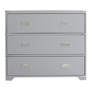 Grey Campaign Style Drawer Chest