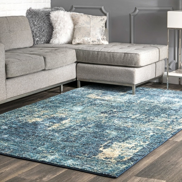 Shop Nuloom Blue Modern Abstract Artsy Ocean Ombre Area