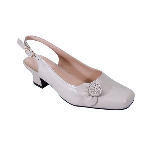 PEERAGE Cheryl Women Extra Wide Width Elegant Comfort Dress Heel Shoes
