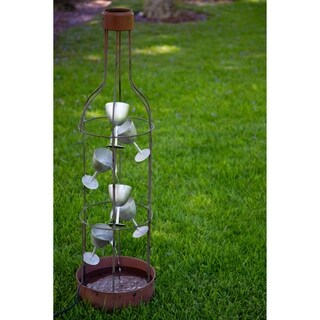 Alpine Tiering Wine Bottle and Glasses Fountain, 44 Inch Tall