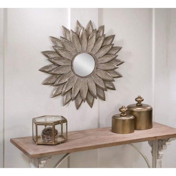 Sunflower Wall Mirror - Silver