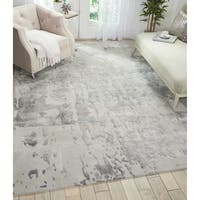 Nourison Prismatic Silver/Grey Wool Handmade Abstract Area Rug - 7'9 x 9'9