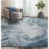 "Nourison Prismatic Grey/Slate Abstract Handmade Area Rug - 8'6"" x 11'6"""