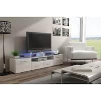 Evora High Gloss Wood TV Stand