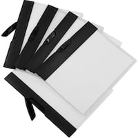 Storex Report Cover + Swing Clip / Clear cover w Black Stripe (18 units/pack)