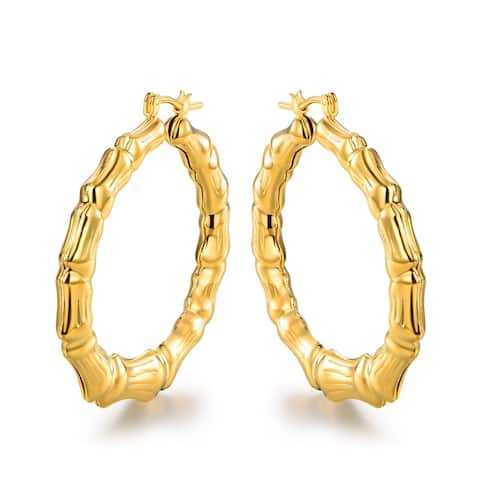 Gold 50mm Hoop Earrings