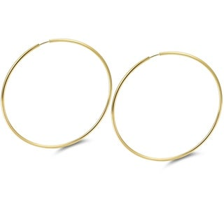 Gold Plated 50mm Gold Endless Hoop Earrings