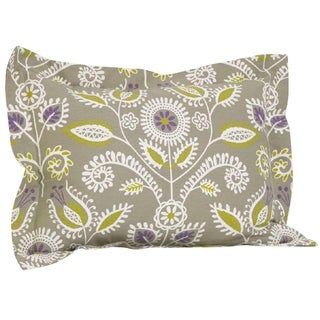 Cotton Tale Periwinkle Multicolored Floral Ruffled Pillow Sham