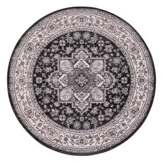 "Concord Global Lara Hailey Charcoal  Round Rug - 7'10"" x 7'10"" Round"