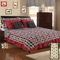 Cotton Tale Houndstooth Geometric 8 Piece Reversible Quilt Bedding Set