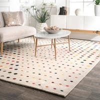 nuLOOM Multicolored Bohemian Polka Dot Area Rug - 9' x 12'