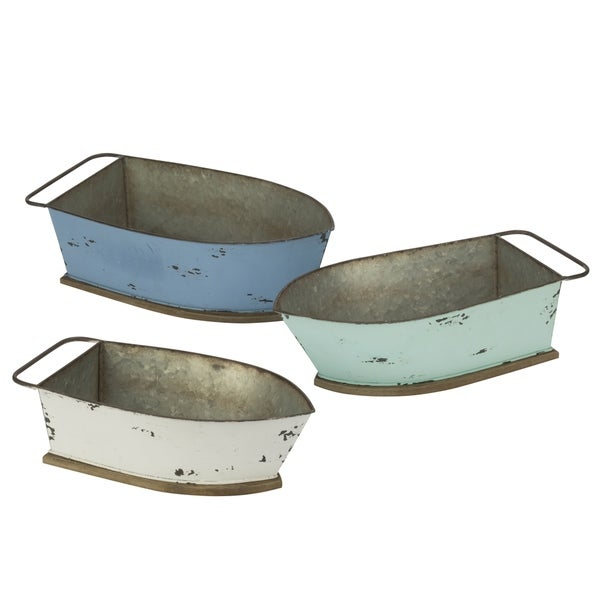 Shop Distressed Metal Boat Shelf and Wall Decor - Free Shipping ...