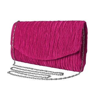 Peach Couture Womens Vintage Satin Pleated Evening Cocktail Wedding Party Clutch