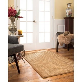 NaturalAreaRugs Alps Custom Mt. Grass Rug 4' x 12' Sienna Border