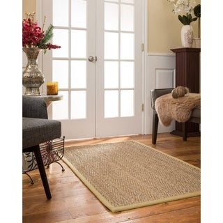 NaturalAreaRugs Beach Custom Seagrass Rug 4' x 12' Sand Border