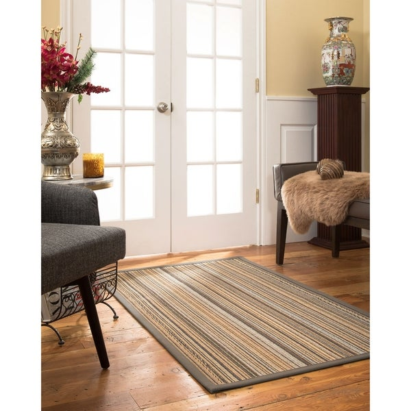Naturalarearugs Boardwalk Sisal Area Rug Stone Border