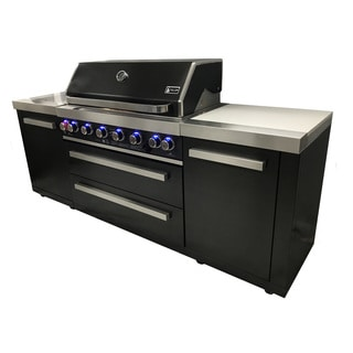 Mont Alpi 805 Black Stainless Steel Gas Island Grill