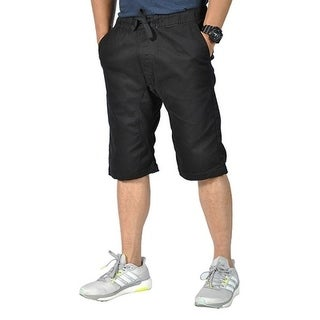 Mens Pro5 Drawstring Elastic 4 Pockets Black Shorts