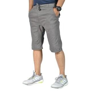 Mens Pro5 Drawstring Elastic 4 Pockets Dark Gray Shorts
