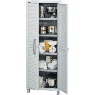 Rimax Light Grey Large Storage Cabinet - N/A