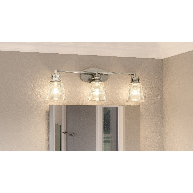 Porch Den Quintero Clear Halophane Gl 3 Light Bathroom Vanity