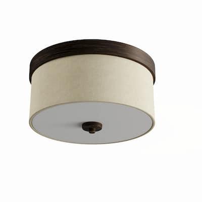 Porch & Den Meade 2-light 13-inch Drum Flush Mount Light