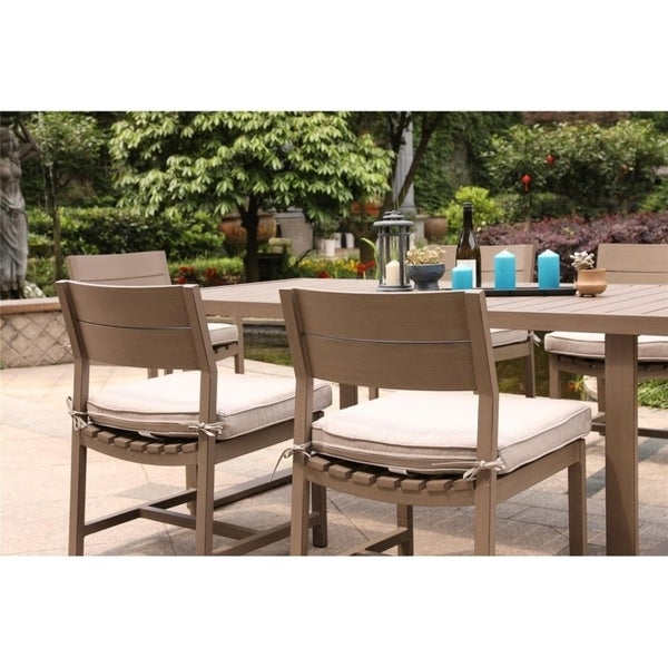 Katalla Aluminum Armless Cushioned Dining Chairs (Set of 2) by Havenside Home. Opens flyout.