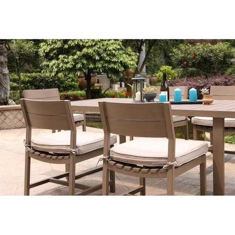Katalla Aluminum Armless Cushioned Dining Chairs (Set of 2) by Havenside Home