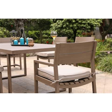 Marina Aluminum dining chair with cushion (Set of 2)