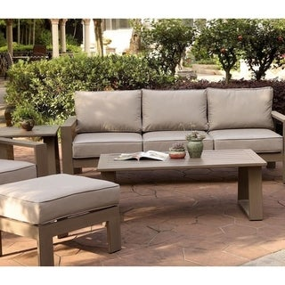 Havenside Home Katalla Luxury Aluminum Outdoor Sofa with Cushion