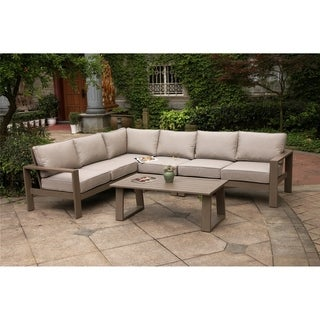 Havenside Home Katalla 5-piece Sectional Set with Coffee Table