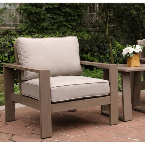 Katalla Aluminum Club Chair with Cushion by Havenside Home