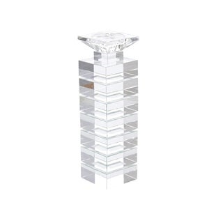 Enchanting Clear Crystal Candle Holder