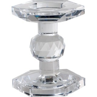 Crystal Pillar Candle Holder, Small, Transparent