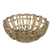 Ceramic Decorative Bowl, Gold