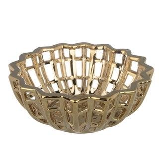 Ceramic Decorative Bowl, Gold