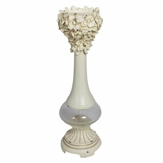 Polyresin Candle Holder, Off White