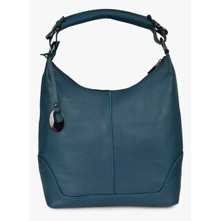 Handmade Phive Rivers Women's Leather Teal Hobo Bag (Italy) - M