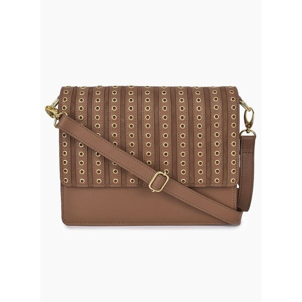 382ef5d0357c Shop Handmade Phive Rivers Women s Leather Tan Crossbody Bag (Italy ...