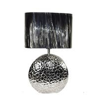 Delightful Aluminum And Nickle Lamp, Silver