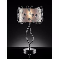 Contemporary Table Lamp, Double Shade