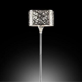 "MYA Traditional 61""H Floor Lamp Silver Metal"