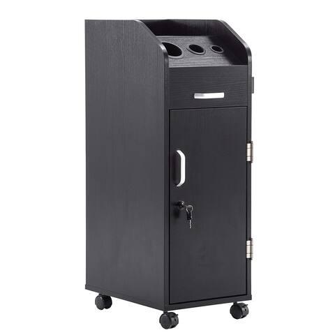 BarberPub Salon Trolley Storage Cart Beauty Hair Dryer Holder Stylist