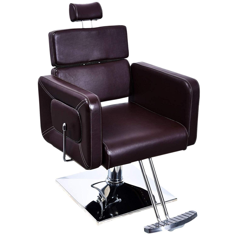 Amazing Barberpub Recliner Hydraulic Adjustable Barber Chair Salon Equipment Lamtechconsult Wood Chair Design Ideas Lamtechconsultcom