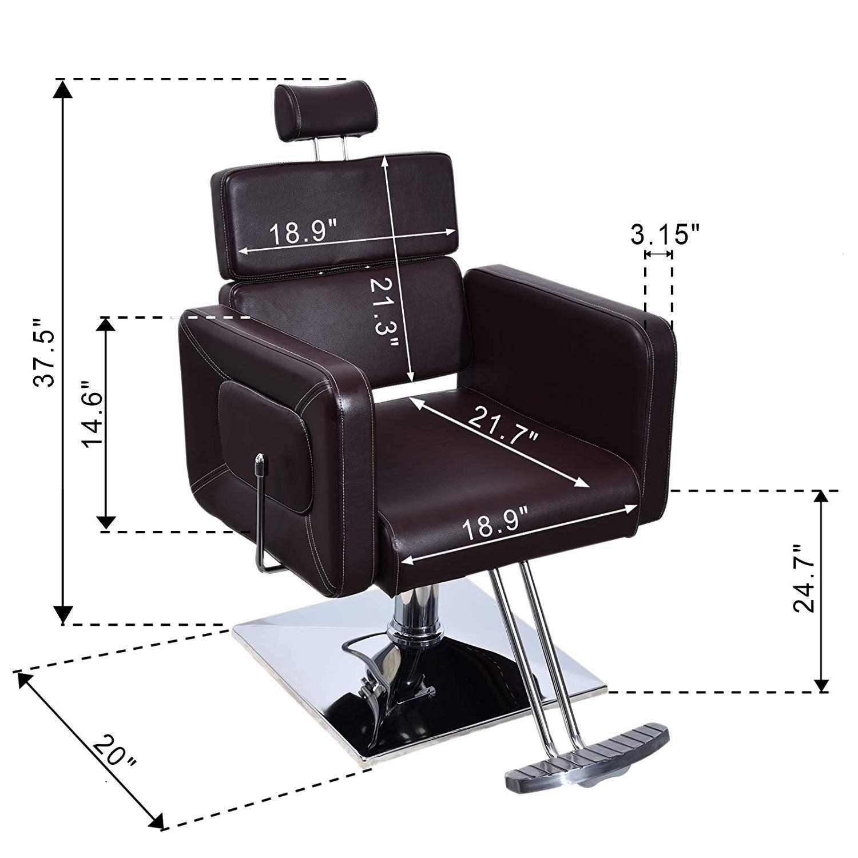 Admirable Barberpub Recliner Hydraulic Adjustable Barber Chair Salon Equipment Dailytribune Chair Design For Home Dailytribuneorg