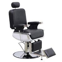 BarberPub Barber Chair Heavy Duty Hydraulic Recliner Equipment