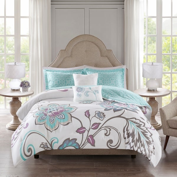 510 Design Gratia Aqua 5 Piece Reversible Print Comforter Set